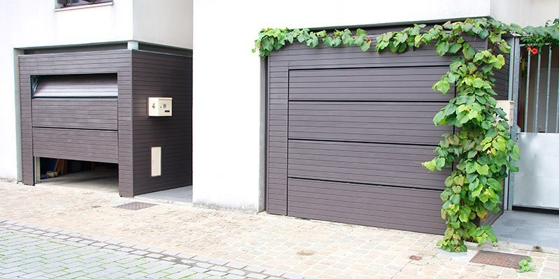 porte kam l o par sda la porte de garage affleurante invisible. Black Bedroom Furniture Sets. Home Design Ideas